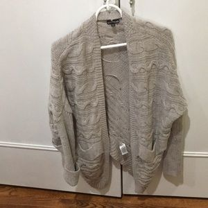 Express tan cable knit oversized cardigan